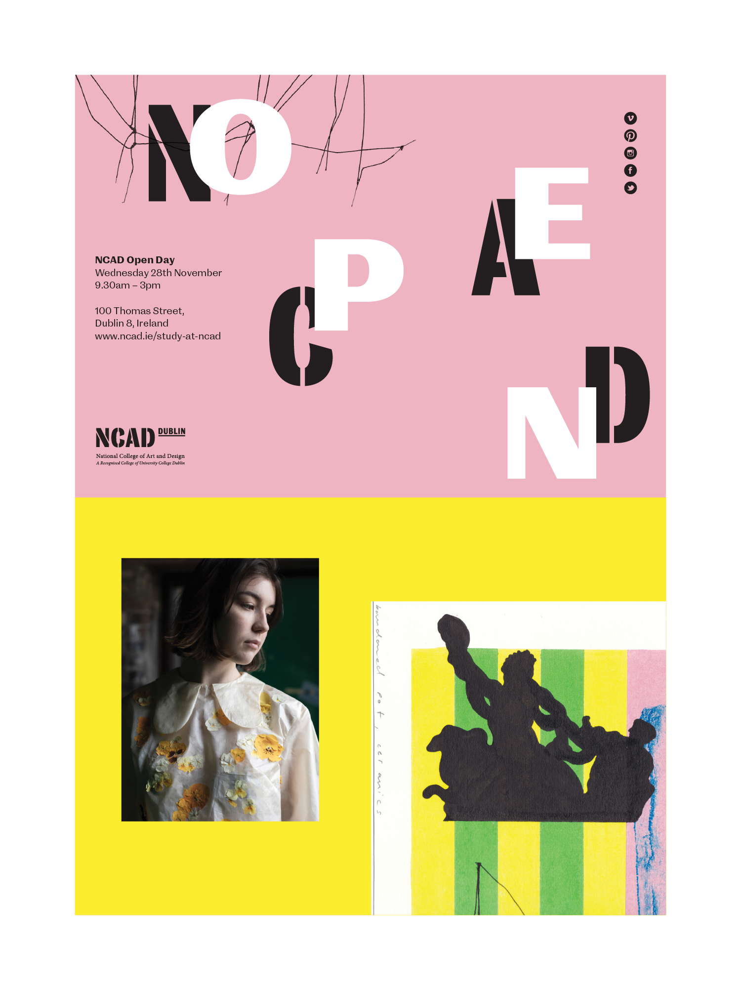Cover image: NCAD – Open Day poster