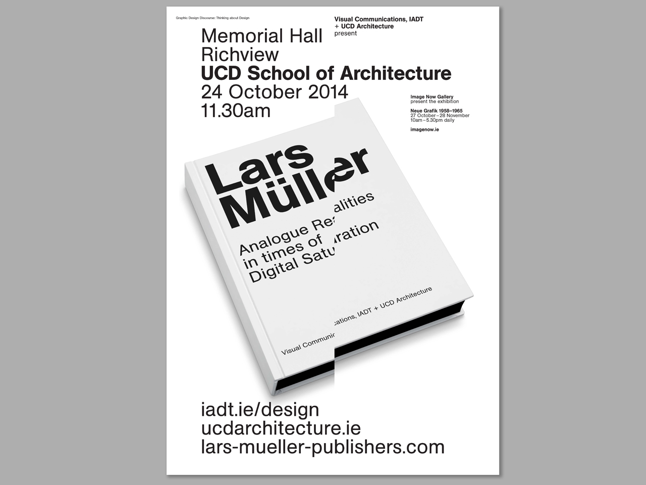 Cover image: Lars Müller IADT/UCDArch