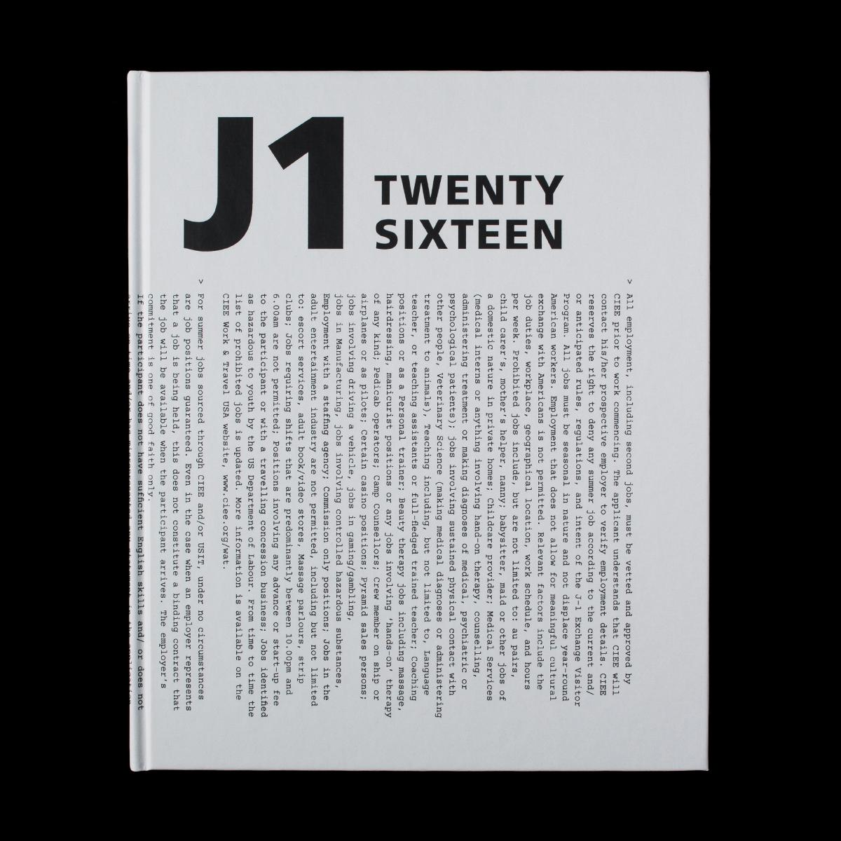 Cover image: J1 Twenty Sixteen