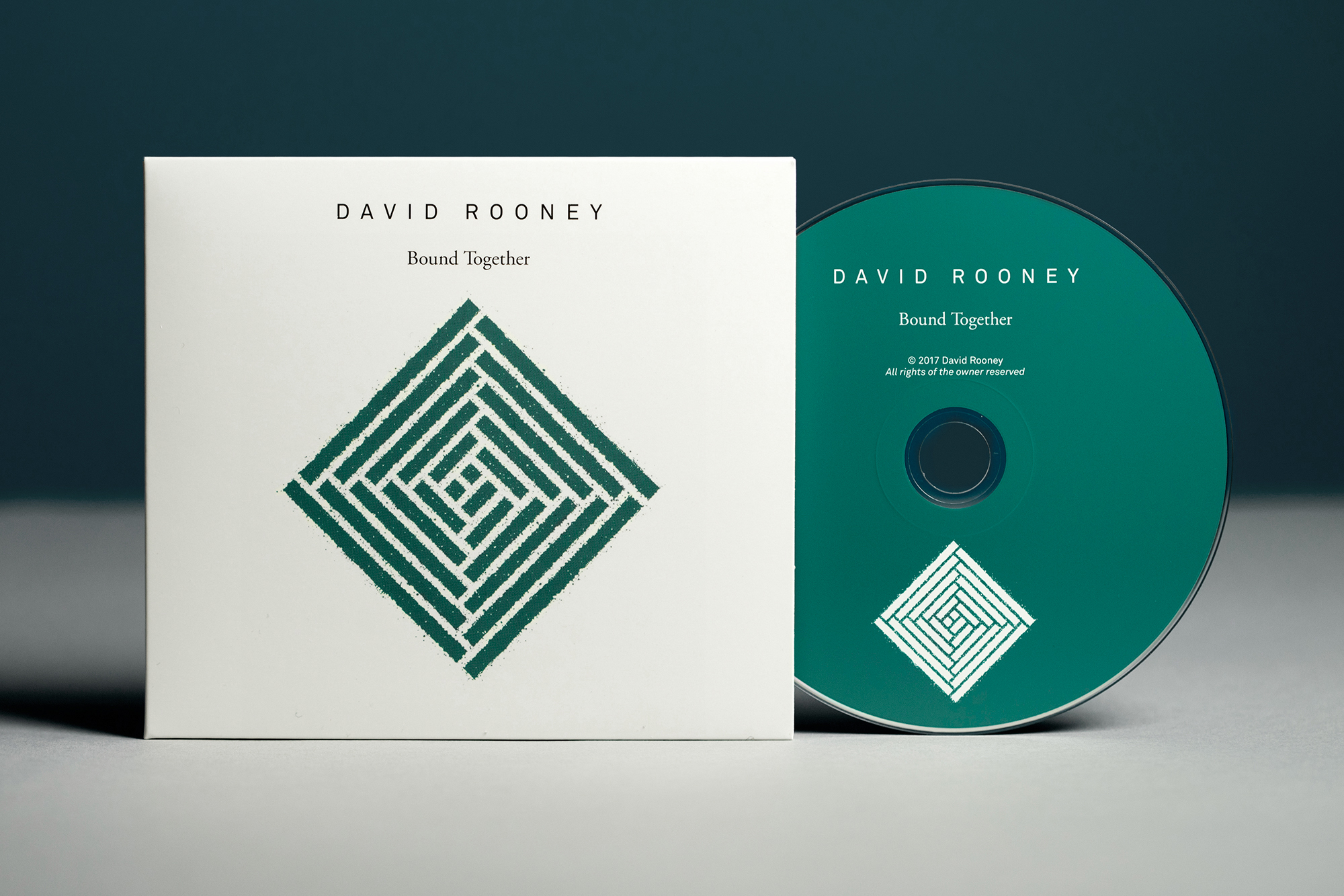 Cover image: David Rooney, 'Bound Together', album on CD.