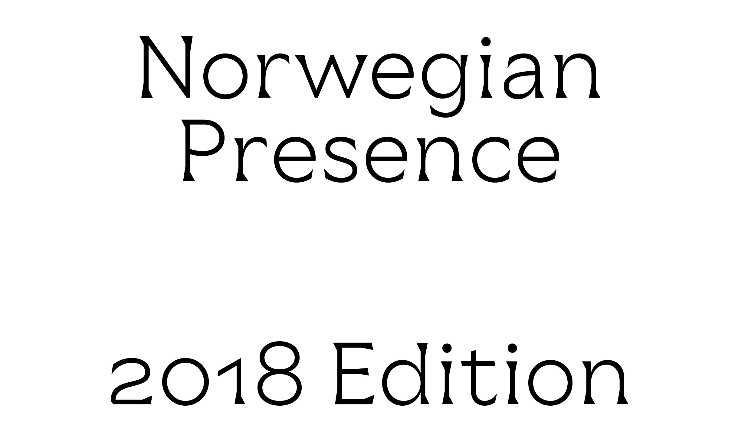 Cover image: Norwegian Presence 2018 Typeface