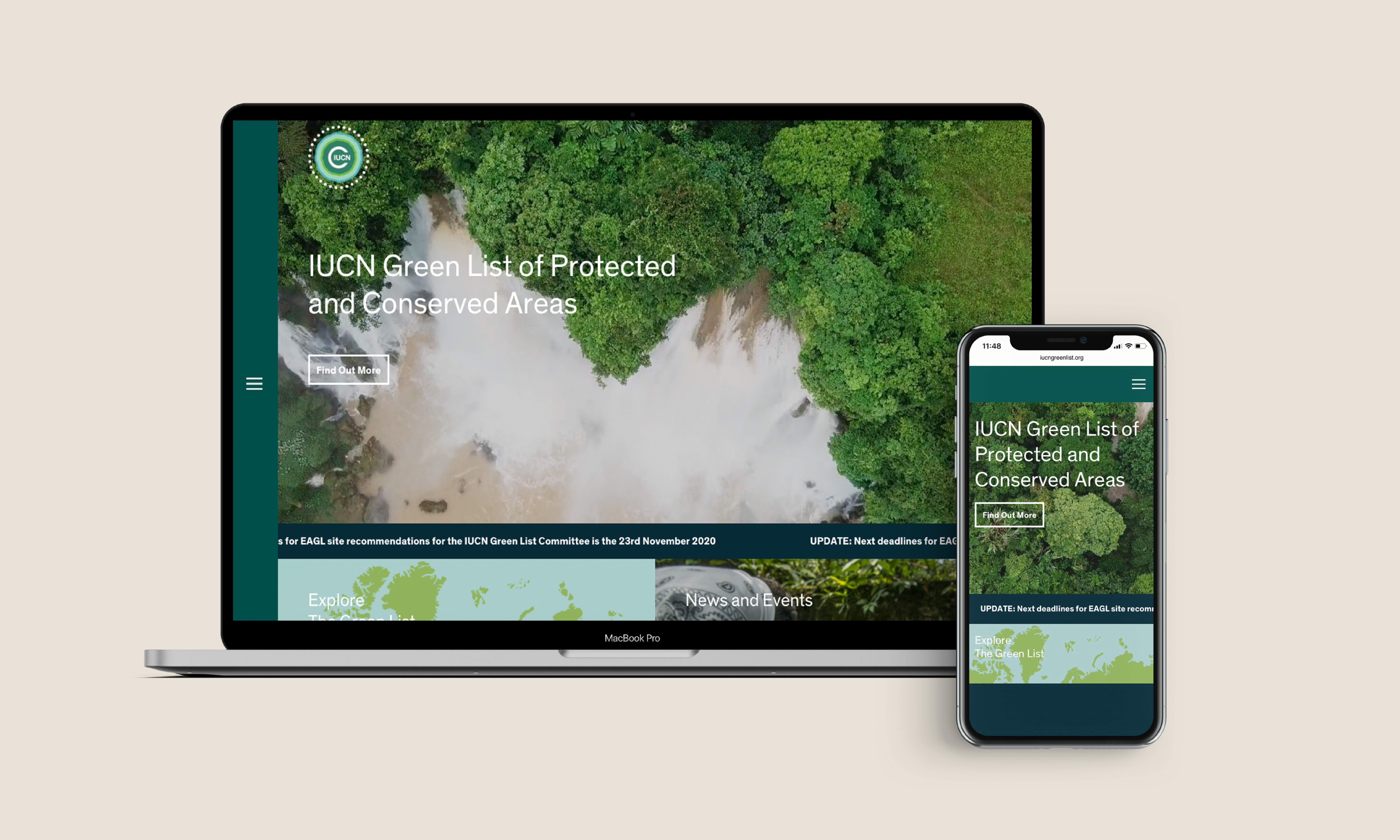 Cover image: IUCN Green List website