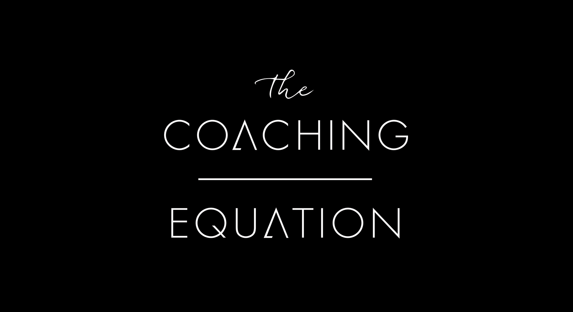 Cover image: The Coaching Equation