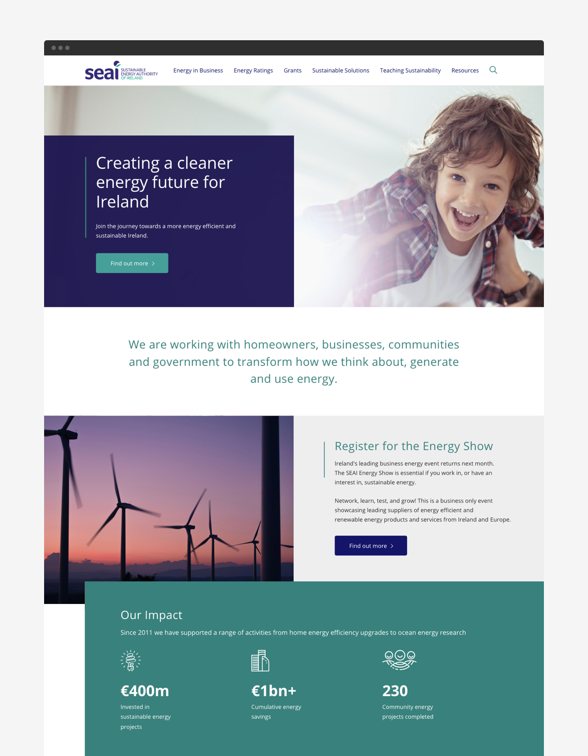 Cover image: Sustainable Energy Authority of Ireland (SEAI) Website