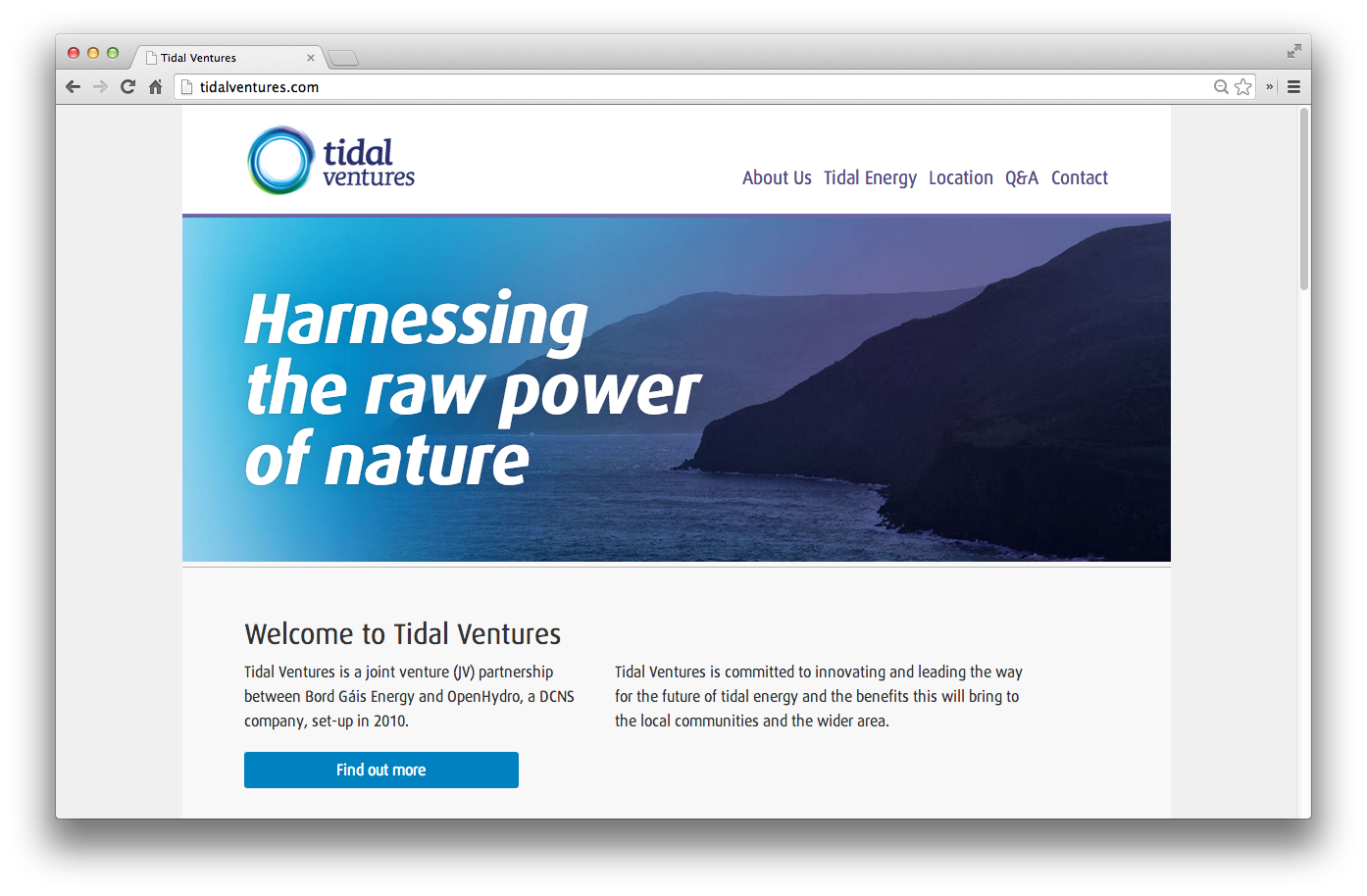 Cover image: Tidal Ventures website (2013)