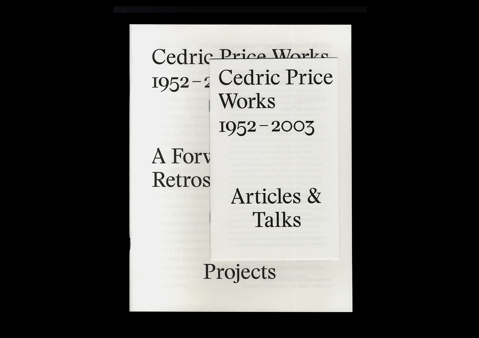 Cover image: Cedric Price Works preview catalogue (2014)