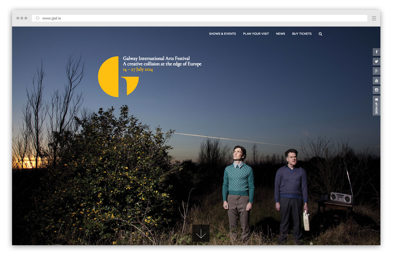 Cover image: Galway International Arts Festival Website (2014)