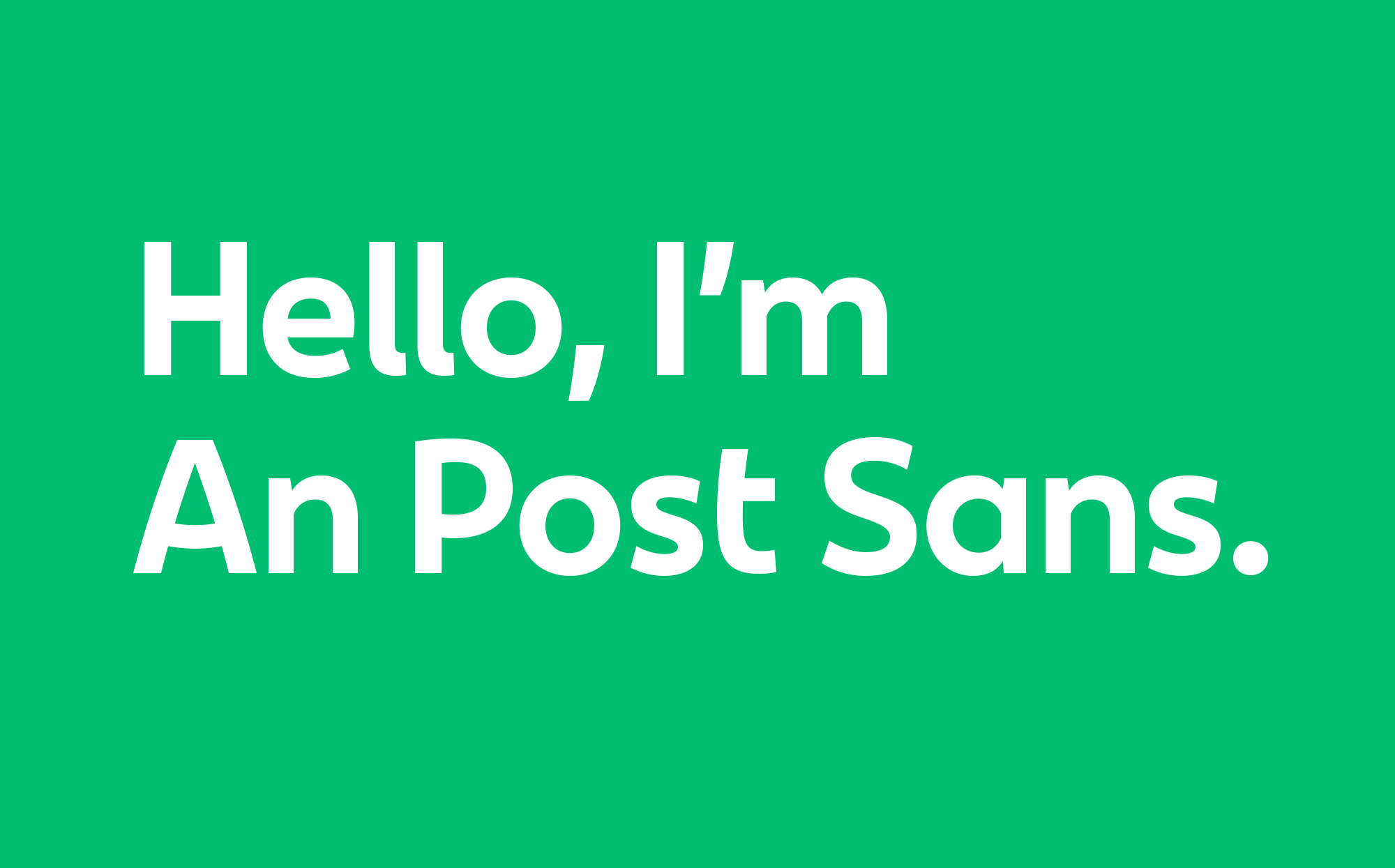Cover image: An Post Sans