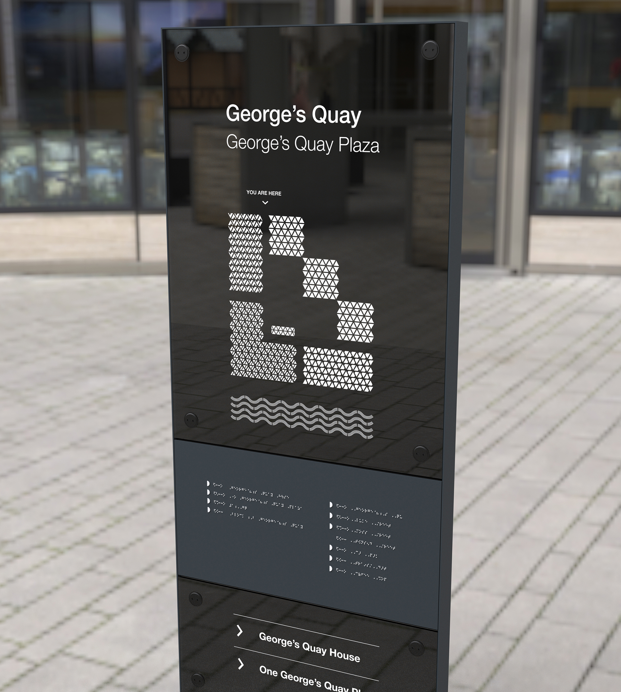 Cover image: George's Quay Public Realm—Signage & Wayfinding