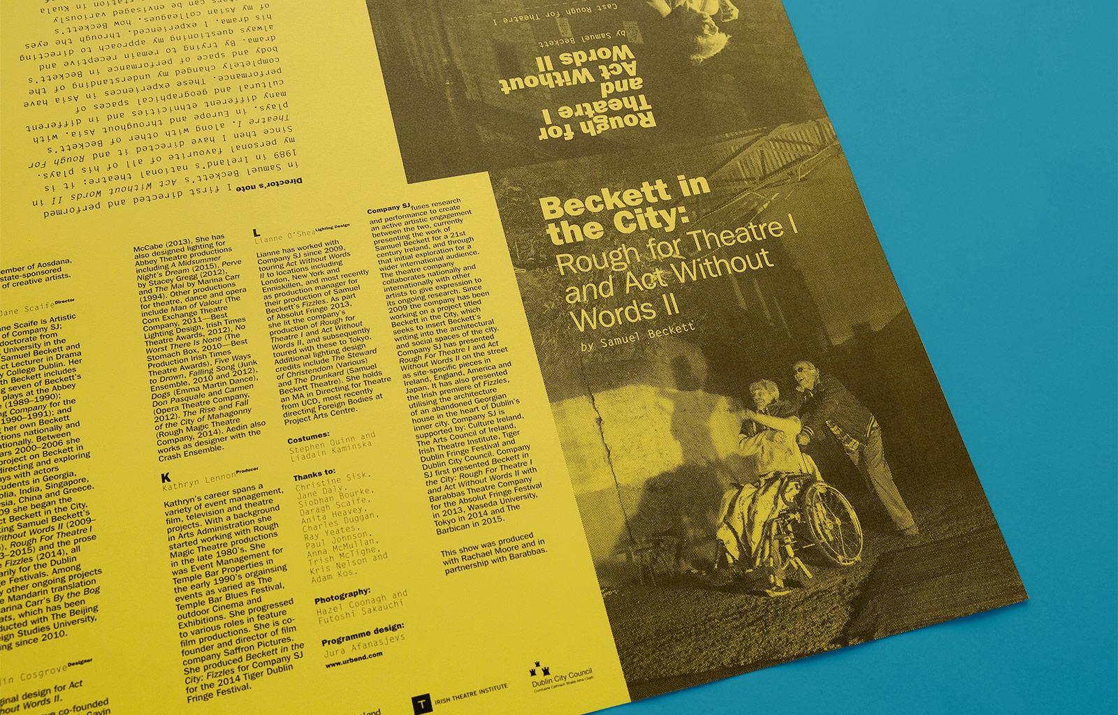 Cover image: Beckett in the City Programme Design