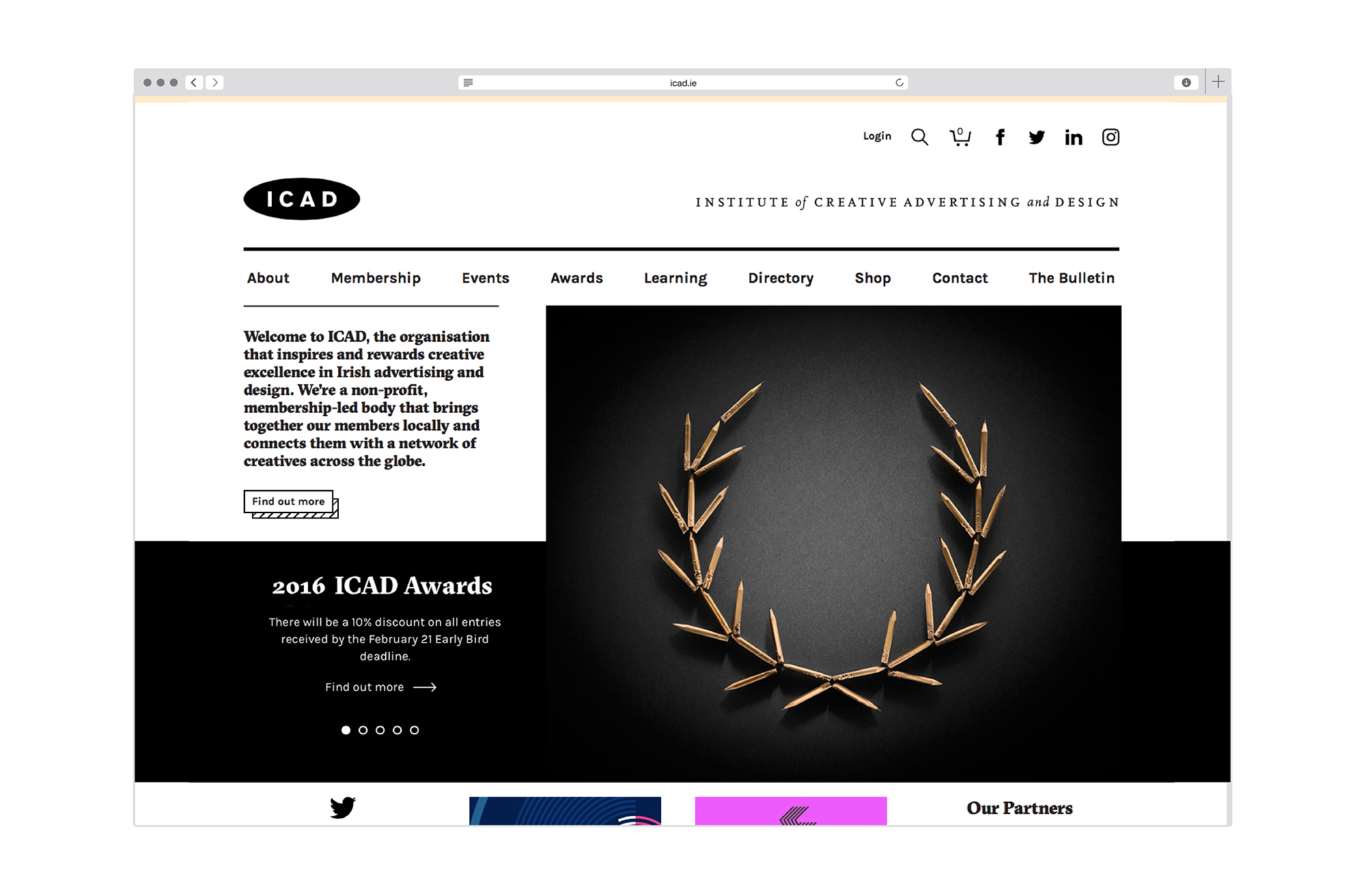 Cover image: ICAD Website