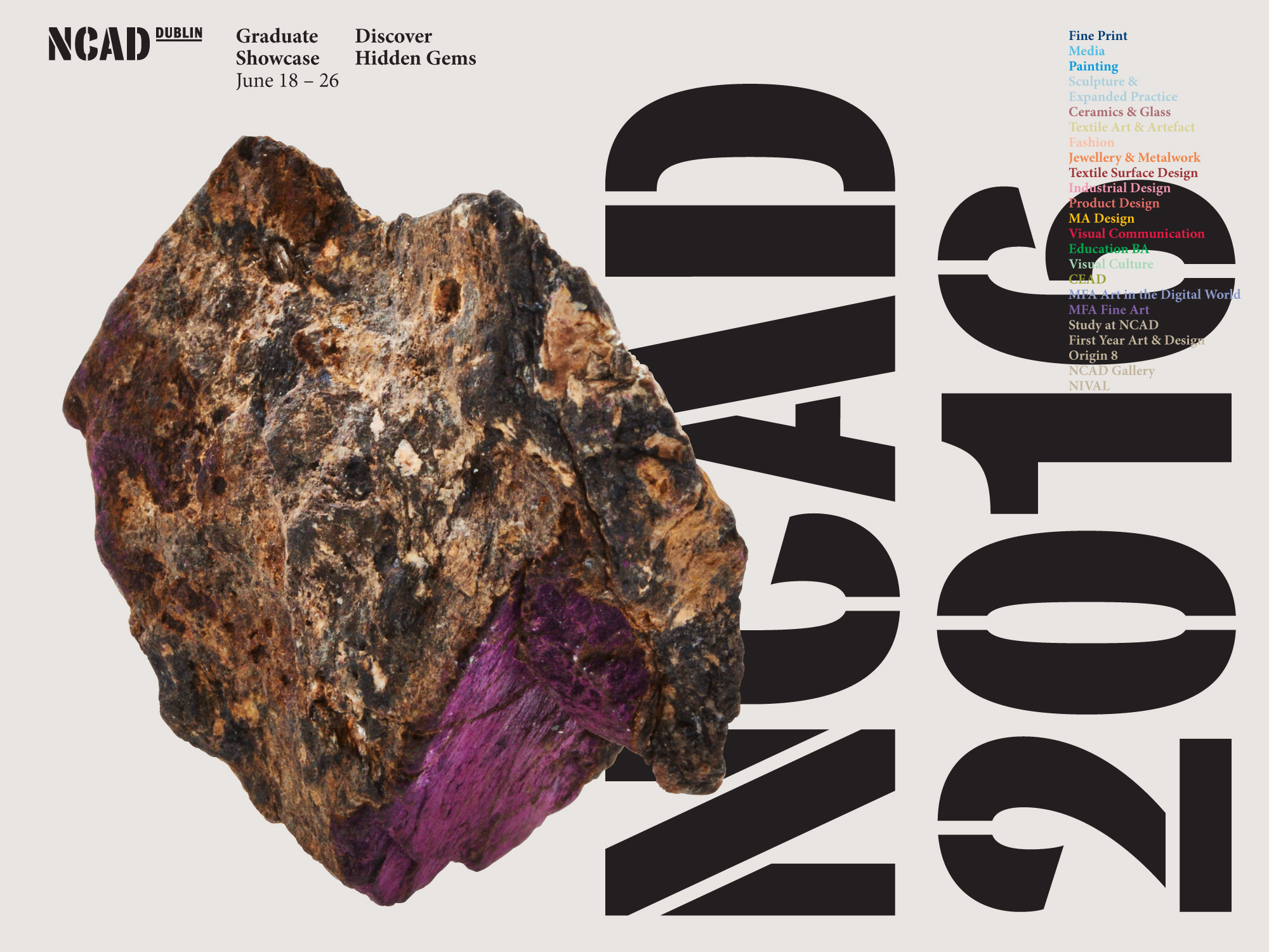 Cover image: NCAD Graduate Showcase