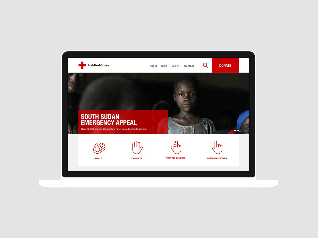 Cover image: Irish Red Cross Website Design