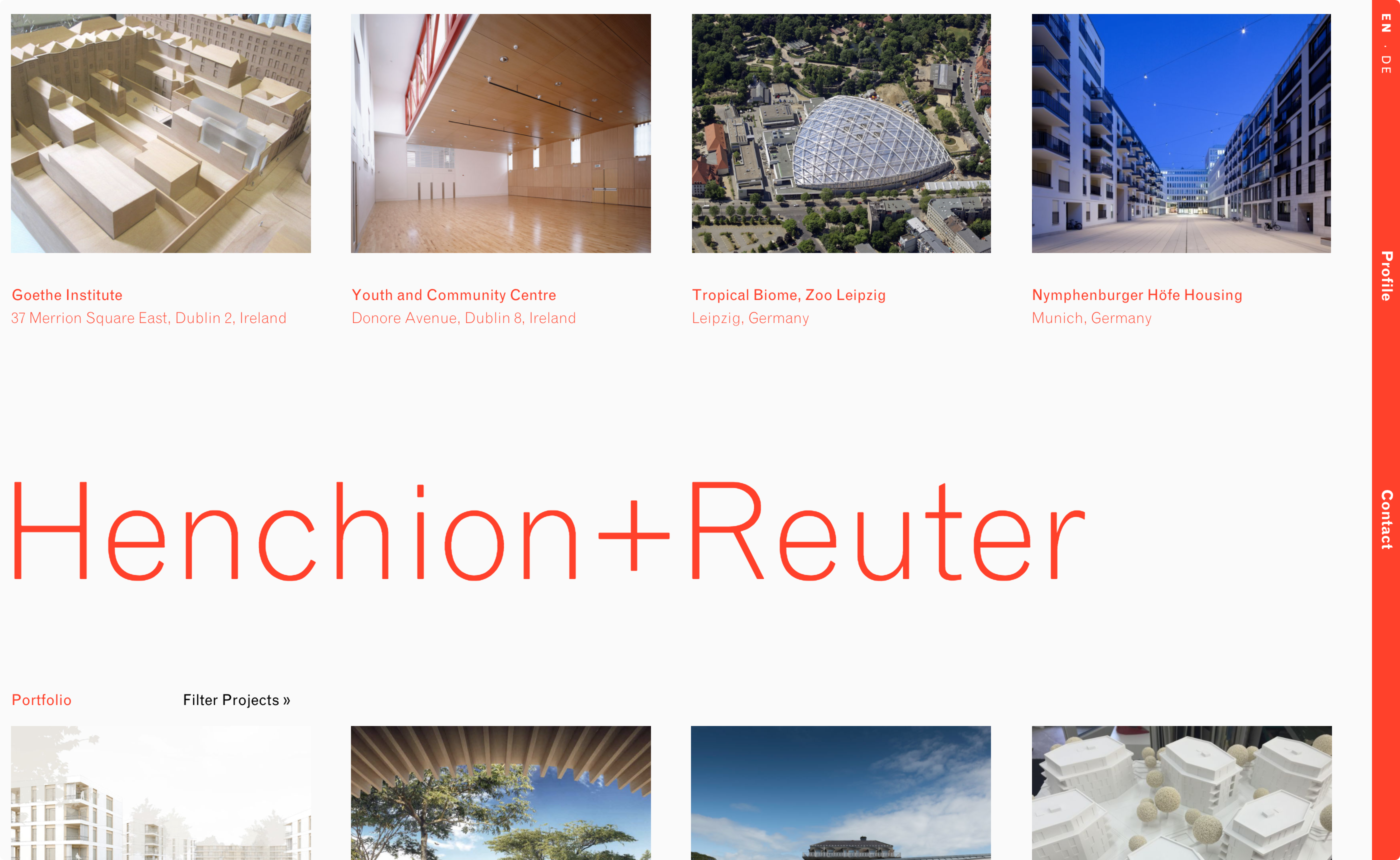 Cover image: Henchion + Reuter
