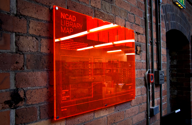 Cover image: NCAD Library Signage System