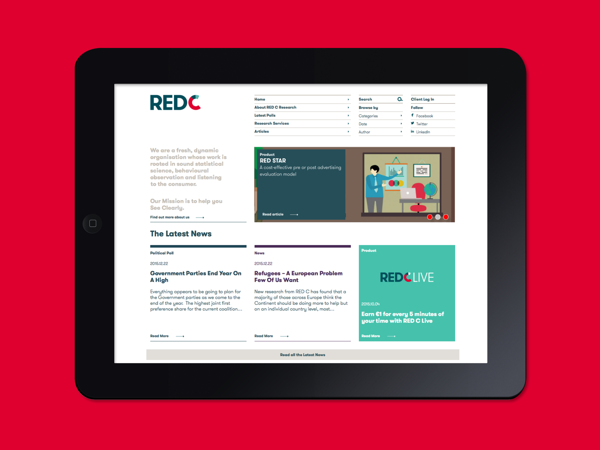 Cover image: RED C Research Website (2015)