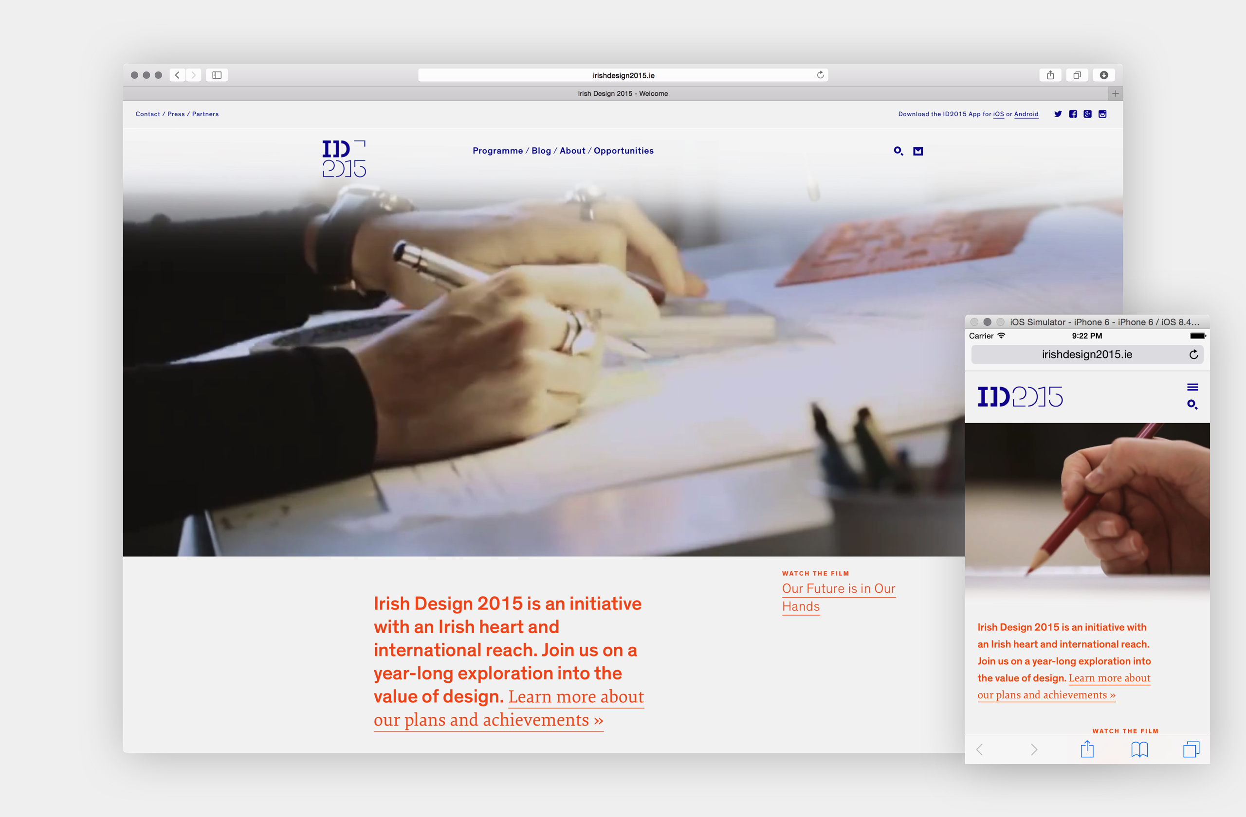 Cover image: ID2015 Website