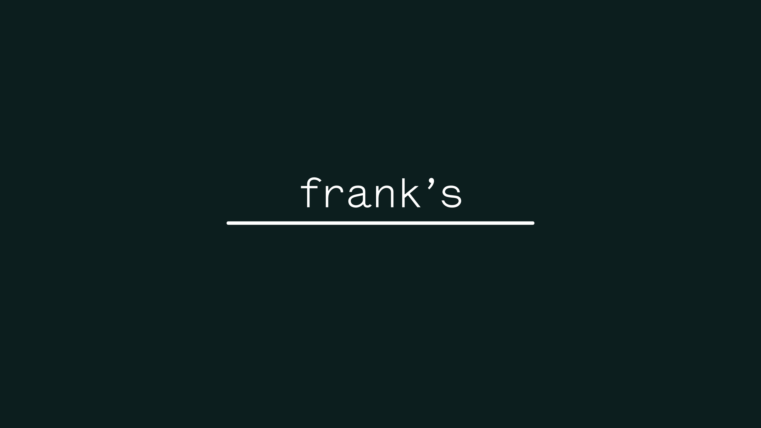 Cover image: Frank's
