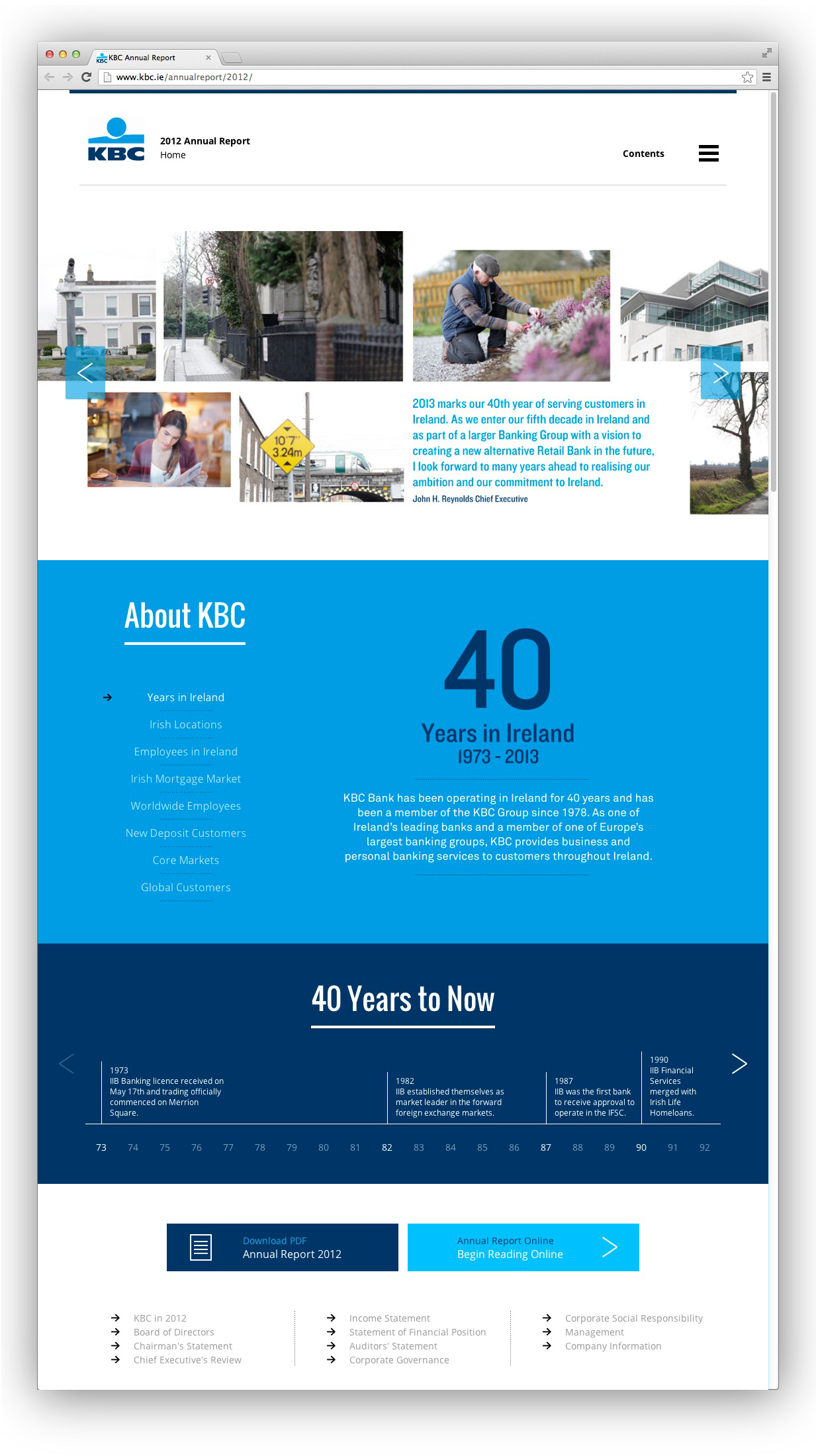 Cover image: KBC Annual Report website