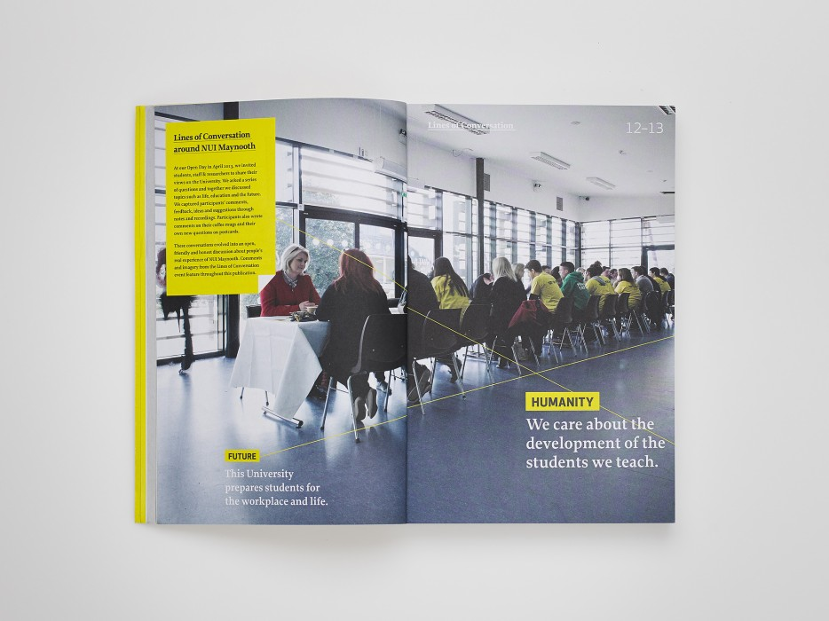 Cover image: NUI Maynooth – Lines of Conversation – Undergraduate prospectus
